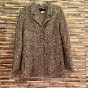 Chanel Single Breast Tweed Blazer Size 8 (40)